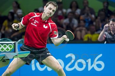 BRA, Olympia 2016 Rio, Tischtennis, Team Viertelfinale Oestereich vs Deutschland