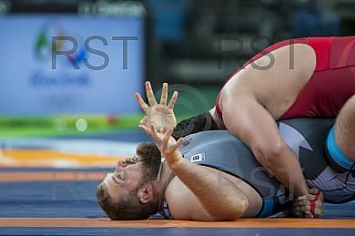BRA, Olympia 2016 Rio, Kampfsport, Ringen 130kg , Bronze Medallien Kampf zwischen SHARIATI Sabah (AZE)  vs. POPP Eduard (GER)