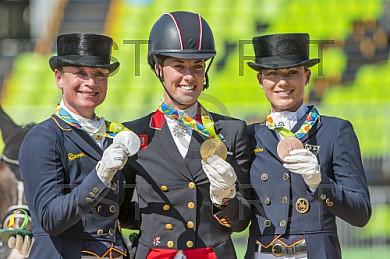 BRA, Olympia 2016 Rio, Reitsport , Dressur EInzel Grand Prix Kuer