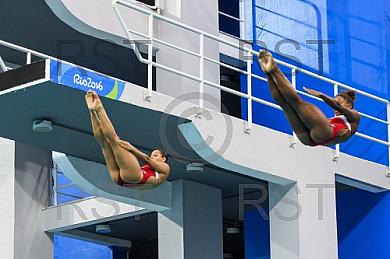 BRA, Olympia 2016 Rio, Finale Synchronspringen 3 meter Brett der Frauen