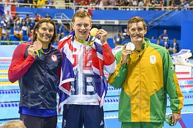BRA, Olympia 2016 Rio, Schwimmsport FINALE - 4x100m Freistil der Maenner