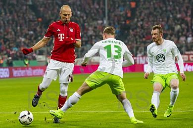 GER,  DFB Pokal 3. Runde,  FC Bayern Muenchen vs. VfL Wolfsburg