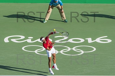 BRA, Olympia 2016 Rio, Tennis, Halbfinale Juan Martin Del Potro (ARG) vs. Rafael Nadal (ESP)