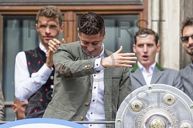 GER, FC Bayern Muenchen Meisterfeier auf dem Marienplatz