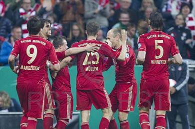 GER, DFB Pokal Halbfinale,  FC Bayern Muenchen vs. VfL Wolfsburg