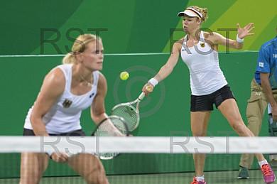 BRA, Olympia 2016 Rio, Tennis Doppel, D. Kasatkina (RUS) und S. Kuznetsova (RUS) vs. Anna-Lena Groenefeld  (GER) und Laura Siegemund (GER)