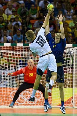 BRA, Olympia 2016 Rio, Handball Schweden vs Deutschland