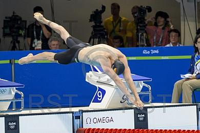 BRA, Olympia 2016 Rio,  Schwimmen 100 Meter Brust Halbfinale 2
